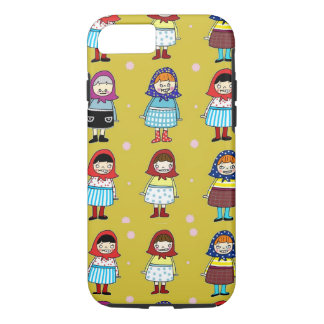 Cute zombie girls with kerchief iPhone 7 case