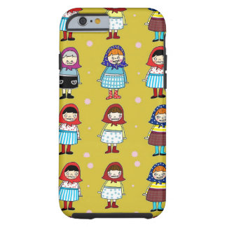 Cute zombie girls with kerchief tough iPhone 6 case