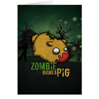 Cute Zombie Guinea Pig Greeting Card