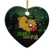 Cute Zombie Guinea Pig Ceramic Ornament