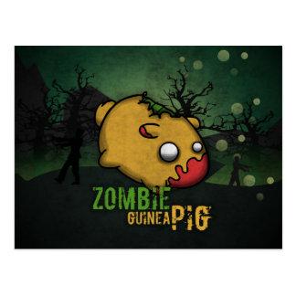 Cute Zombie Guinea Pig Postcard