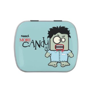 Cute Zombie Halloween Jelly Belly Candy Tin