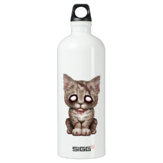 Cute Zombie Kitten Cat Water Bottle