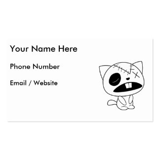 Cute Zombie Kitty Cat Business Card