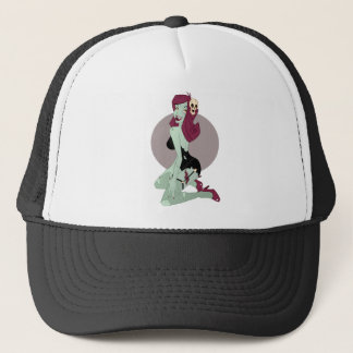 Cute Zombie Pin-Up Girl Trucker Hat
