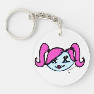 Cute Zombie Single-Sided Round Acrylic Keychain