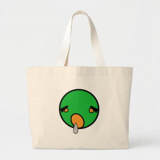 cute zombie t-shirt large tote bag
