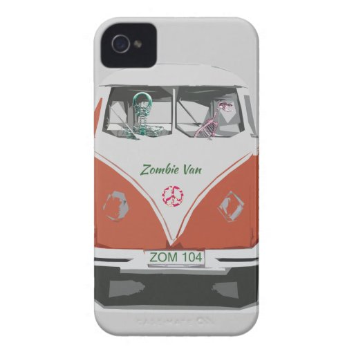 Cute Zombie van with dog iphone covers iPhone 4 Case-Mate Cases