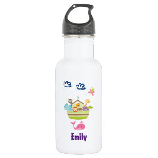 Cute Zoo Animal Ark Personalized Stainless Steel Water Bottle