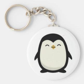 cutebabypenguin basic round button keychain