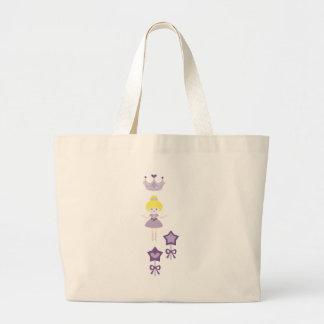 cuteballerina6 large tote bag