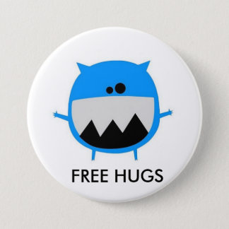 cutebluemonster, FREE HUGS Button