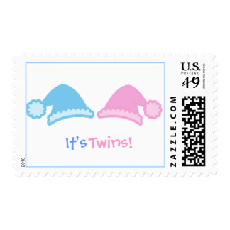 cutecaps, It's , Twins! - - Postage Stamp