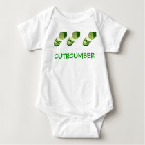 CUTECUMBER CUCUMBER BABY BABY BODYSUIT