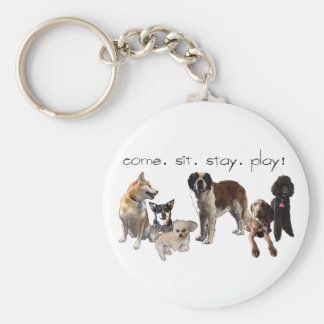 _cuteDogsPictureHome Key Chain