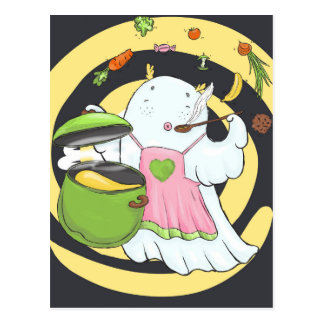 Cutee Ghost Postcard
