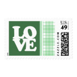 CuteGreen Plaid Stamps