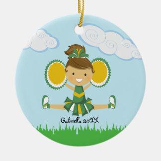 CuteGreen y ornamento amarillo del navidad de la a Adorno