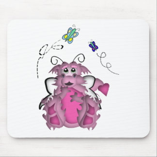CuteLittle  Butterfly Baby Dragon Girl Mouse Pad