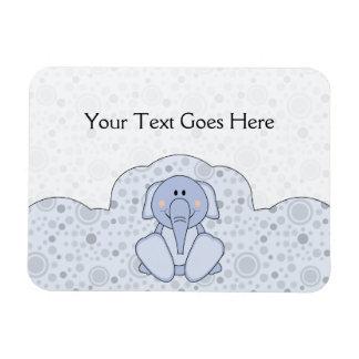 Cutelyn Baby Blue Elephant Vinyl Magnet