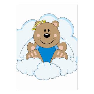 Cutelyn Baby Boy Angel Bear On Clouds Business Card