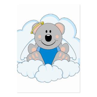 Cutelyn Baby Boy Angel Koala Bear On Clouds Business Card Templates