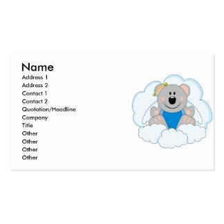 Cutelyn Baby Boy Angel Koala Bear On Clouds Business Card Template