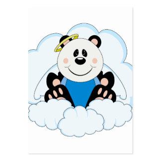 Cutelyn Baby Boy Angel Panda Bear On Clouds Business Cards