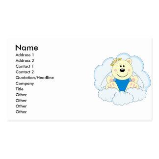 Cutelyn Baby Boy Angel Polar Bear On Clouds Business Card