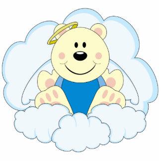 Cutelyn Baby Boy Angel Polar Bear On Clouds Photo Cutouts