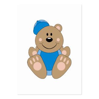 Cutelyn Baby Boy Baseball Bear Large Business Cards (Pack Of 100)