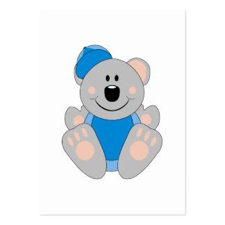 Cutelyn Baby Boy Baseball Koala Bear Large Business Cards (Pack Of 100)