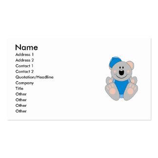 Cutelyn Baby Boy Baseball Koala Bear Double-Sided Standard Business Cards (Pack Of 100)
