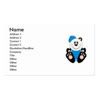 Cutelyn Baby Boy Baseball Panda Bear Double-Sided Standard Business Cards (Pack Of 100)