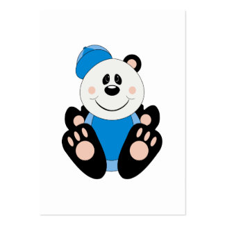 Cutelyn Baby Boy Baseball Panda Bear Large Business Cards (Pack Of 100)