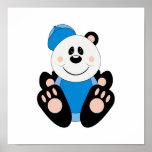 Cutelyn Baby Boy Baseball Panda Bear Print