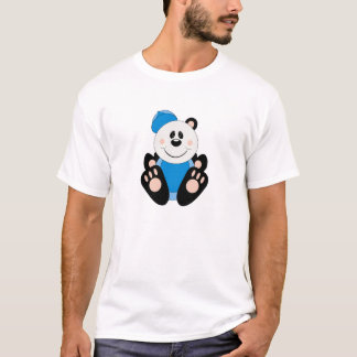 Cutelyn Baby Boy Baseball Panda Bear T-Shirt