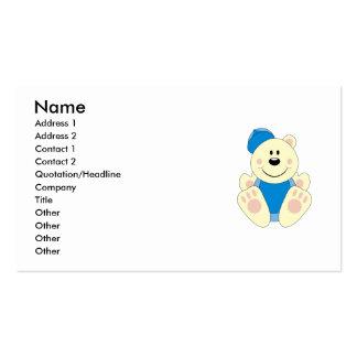 Cutelyn Baby Boy Baseball Polar Bear Double-Sided Standard Business Cards (Pack Of 100)