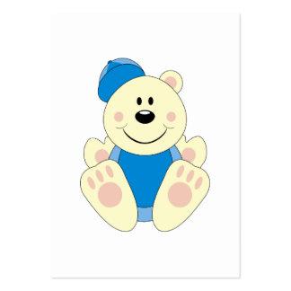 Cutelyn Baby Boy Baseball Polar Bear Large Business Cards (Pack Of 100)