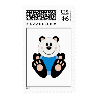 Cutelyn Baby Boy Panda Bear Postage Stamps