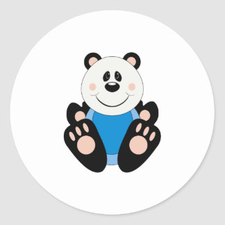 Cutelyn Baby Boy Panda Bear Classic Round Sticker