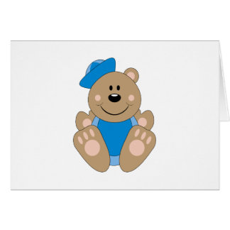 Cutelyn Baby Boy Sailor Bear Greeting Card