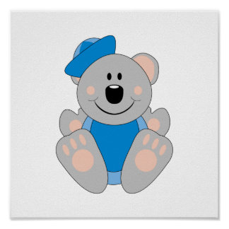 Cutelyn Baby Boy Sailor Koala Bear Posters