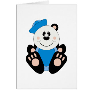 Cutelyn Baby Boy Sailor Panda Bear Card