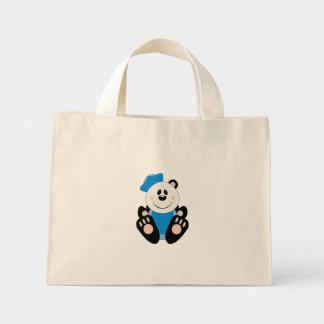 Cutelyn Baby Boy Sailor Panda Bear Mini Tote Bag