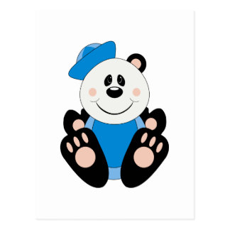 Cutelyn Baby Boy Sailor Panda Bear Postcard