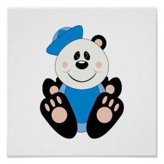 Cutelyn Baby Boy Sailor Panda Bear Posters