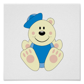 Cutelyn Baby Boy Sailor Polar Bear Posters