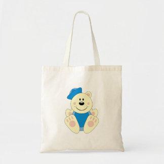 Cutelyn Baby Boy Sailor Polar Bear Tote Bag