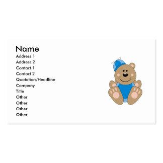 Cutelyn Baby Boy Silly Bear Business Card